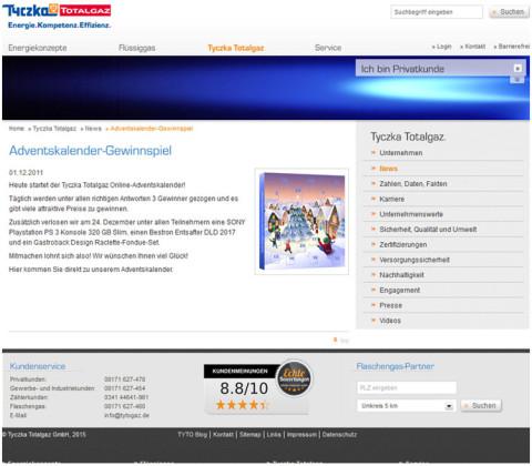 Adventskalender – Tyczka Totalgaz GmbH