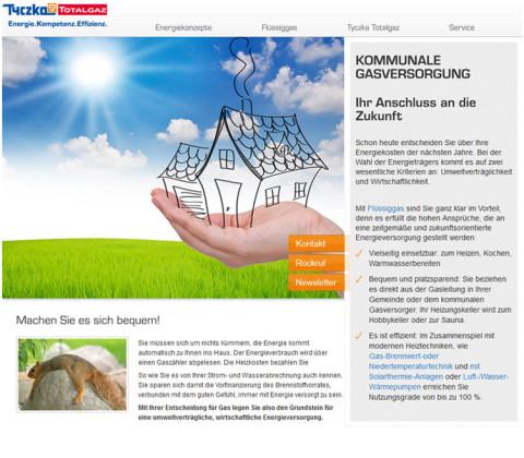 Landingpages – Tyczka Totalgaz GmbH