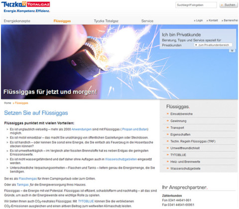 Redesign – Tyczka Totalgaz GmbH