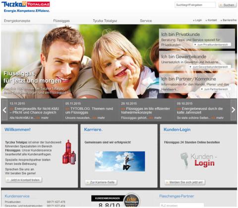 Onlineportal – Tyczka Totalgaz GmbH