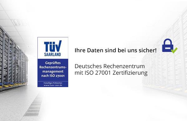 Garantierte Datensicherheit durch ISO 27001 Zertifizierung