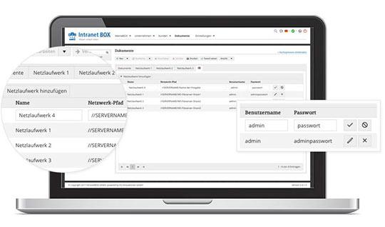 Intranet Microsoft File Server Konnektor