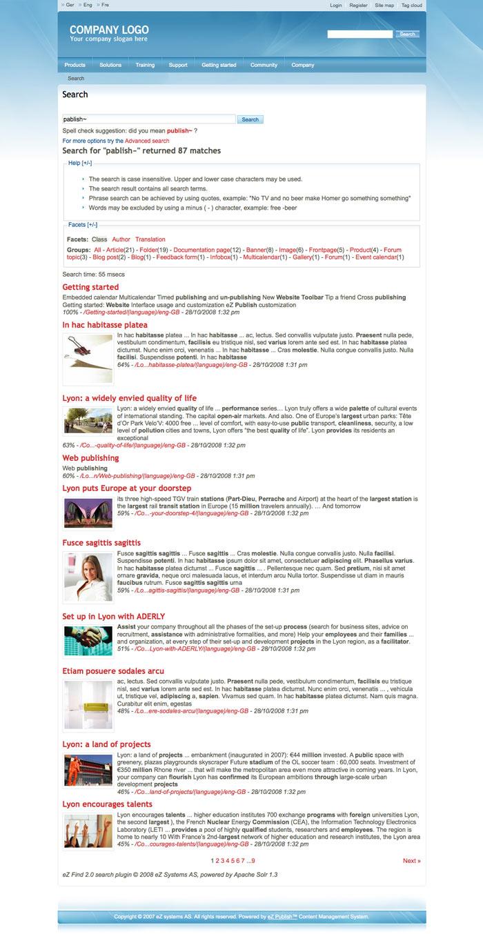 eZ Find Search Engine