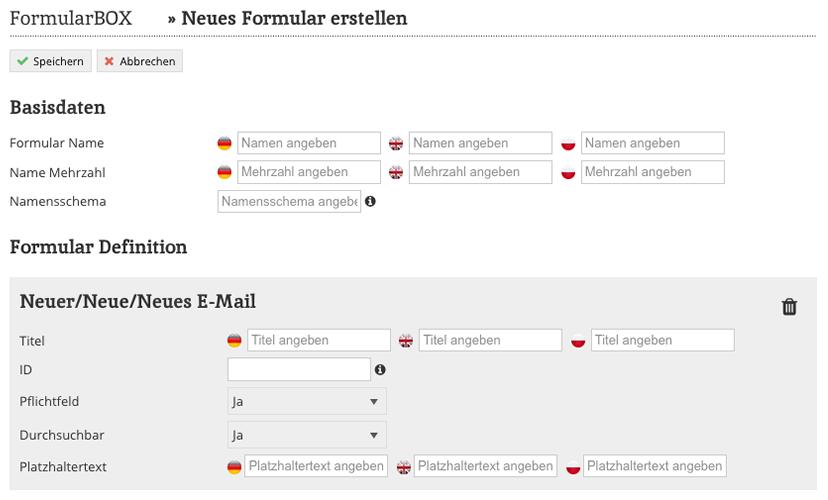FormularBOX Neues Formular erstellen