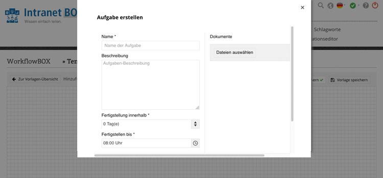 Workflow Software Aufgabe erstellen
