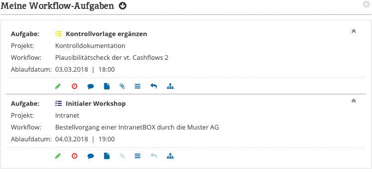 Workflow Software Uebersicht im Dashboard